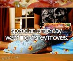 Spend an entire day watching Disney movies
