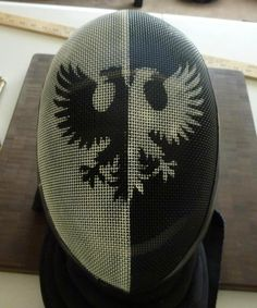 painted fencing mask. not that i'm fencing anymore... but this is cool!