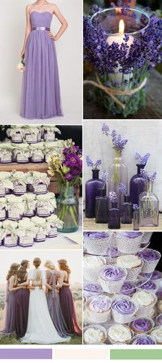 purple wedding color ideas and purple bridesmaid dresses
