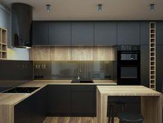 Kitchen Room Design, Kitchen Dinning, Kitchen Sets, New Kitchen, Kitchen Interior, Kitchen Decor, Interior Design Themes, Apartment Furniture, Cuisines Design