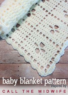 """Call the Midwife"" Inspired Baby Blanket (Free Pattern!) ❁•Teresa Restegui http://www.pinterest.com/teretegui/•❁"