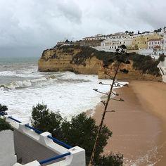 #Carvoeiro #forceofnature #waves #beach #algarve #portugal