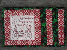 maybe I'll just do this with my Christmas stitch a longs