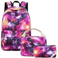 2099214c7b Chic BLUBOON School Backpack Galaxy Teens Girls Boys Kids School Bags  Bookbag with Laptop Sleeve (