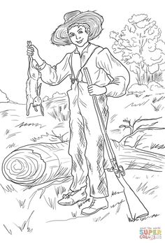 Tom Sawyer and Whitewashing the Fence coloring page from