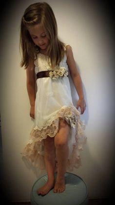 Shabby Chic Wedding Girls DressBeautiful & by MYSWEETCHICKAPEA,