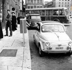 Fiat 500, 1950s Car, Car Images, Sweet Cars, His Travel, Car In The World, Future Car, Rome Italy, Vintage Photographs
