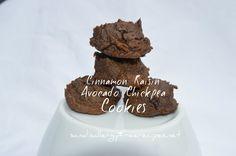 Cinnamon Raisin Avocado Chickpea Cookies (Gluten Free/ Grain Free/ Vegan/ Dairy Free/ Egg Free/ Refined Sugar Free)