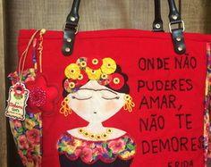 Bolsa Vermelha Frida Kahlo                                                                                                                                                      Mais