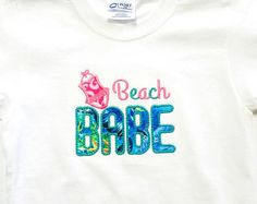 Check out Beach Babe - Beach Shirts - Cruise Shirts - Vacation Shirts - Embroidered Shirt - Beach Apparel - Beach Trip - Summer Shirts - Nautical on sweetbabycakesbows