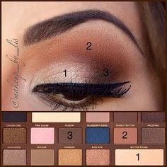 Tutorial eye make up using Semi-sweet chocolate bar palette Too Faced (TF) or its dupe Salted Caramel Makeup Revolution (MUR). Glam Makeup Look, Makeup Looks, Kiss Makeup, Face Makeup, Easy Eye Makeup, Basic Makeup, Maquillage Too Faced, Too Faced Semi Sweet, Make Up Inspiration