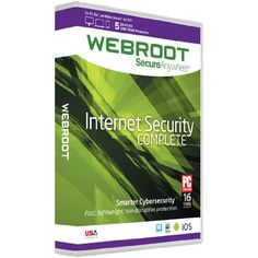 Webroot Internet Security Complete 2016 | 5 Devices | 1 Year | PC [Download], 2016 Amazon Top Rated Antivirus & Security  #Software