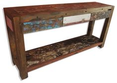Old Boat 3 drawer console - Ashanti Furniture and Design