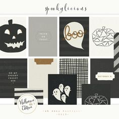 Project Life Halloween Edition vol 1. Stationery Templates. $7.00