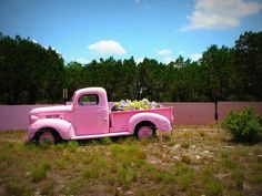 Pink...Mine is a 1962 Long Bed Step Side and it will be aqua/teal color,...*sigh* I cant wait!!! The truck has been a great project for my guys to restore :}