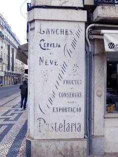 rètol botiga, Lisboa. foto miquel