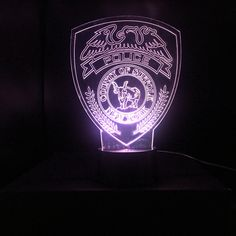 Suffolk County Police Gift Light - Changing Color #EdgeLitSign #PoliceLight #LawEnforcement #ThinBlueLine #PoliceEmblemLight #Suffolk #PoliceOfficer #Cop #CustomLogo #CountyPolice