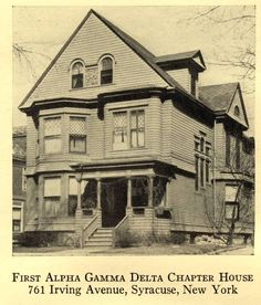 The first Alpha Gamma Delta chapter house at Syracuse University. http://wp.me/p20I1i-PX #alphagammadleta #syracuseuniversity #sororityhistory #NPChistory