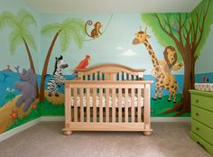Baby Nursery Mural - Noah's Ark. I LOVE this!! How do we make this happen in our house?
