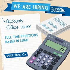 Looking to get into Accounting? Accounts Office Junior Required For Immediate Start! Email CV jobs@betterbathrooms.com