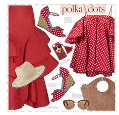 """Polka dots"" by anne-irene ❤ liked on Polyvore featuring Anna October, Rosie Assoulin, Inverni, Ruby Shoo, Marni and PolkaDots"