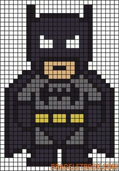 Batman pixel bead pattern
