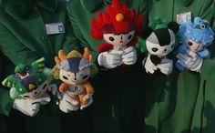 The Fuwa - Beibei, Jingjing, Huanhuan, Yingying and Nini - were the mascots of the 2008 Summer Olympics in Beijing.