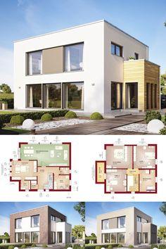 Uberlegen DESIGNHAUS MIT FLACHDACH // Haus Evolution 154 V9 Bien Zenker   Fertighaus  Im Bauhausstil   Moderne Architektur Mit Viel Glas Offenem Grundriss  Flachdach ...