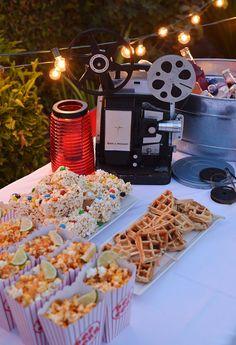 4 Steps to Hosting an Outdoor Movie Night by Nibblesandfeasts.com via @ForkfulBlog