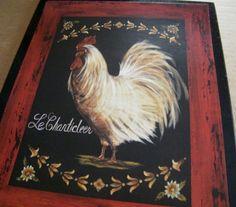 Chicken Rooster Retro Primitive Country KITCHEN by carolalden