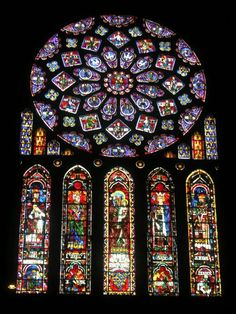 Rose Window and Lancets  Chartres Cathedral  Chartres, France,  1220, Gothic
