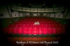 Kathryn and Richard's Cinema Wedding with an Afternoon Tea and Pink Ian Stuart Dress by Anna Louise Crossley
