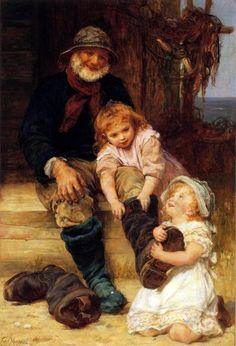 Helping Grandpa   by Frederick Morgan