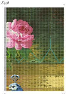 Gallery.ru / Фото #4 - 24 - katsi Cross Stitch Rose, Cross Stitching, Peacock, Painting, Mantel, Crossstitch, Florals, Frames, Dots