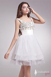 aeb76a04af2 Graduation Dresses for 8Th Grade - G0369 White Homecoming Dresses
