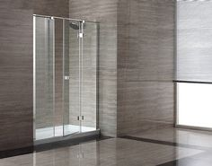 Ove Ows-614 60'' Glass Shower Enclosure w/Acrylic Base Stainless Steel