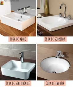 lavabo com cuba de encaixe alturas - Pesquisa Google