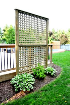 Deck Privacy/ can also grow some vining plants up it                                                                                                                                                                                 More