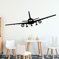 muursticker vliegtuig kinderkamer leuk muurdecoratie wand muur ideeen boeing 747 passasiegersvlieguig stoer Kidsroom, New Room, Kids Bedroom, Baby Room, House, Amsterdam, Home Decor, Interiors, Education