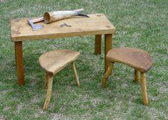 Viking stools and table.