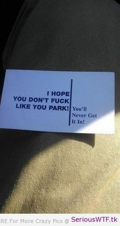 parking note