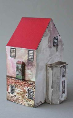 Sebastian Harding: John Aston's House, Charterhouse Lane, Smithfield, London Clay Houses, Miniature Houses, Art Houses, Wooden Houses, Wooden Crafts, Paper Crafts, Architectural Sculpture, Paper Magic, Little Houses