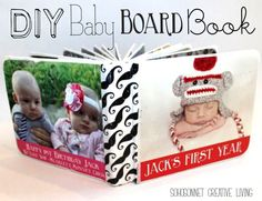 DIY Baby Board Book made out of modpodge and recycled thrift store baby books - SohoSonnet Creative Living