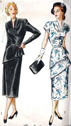 1940s Misses Cocktail Dress