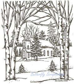 church scene coloring pages - photo#21