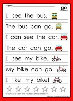 Alphabet Sentences, Sight Word Sentences and Kindergarten Guided Reading Bundle Very First Sight Word Sentences, Alphabet Sentences & Read Sight Word Sentences, Sight Word Games, Sight Word Activities, Simple Sentences Worksheet, Sight Word Readers, Sight Word Worksheets, Sight Word Practice, Literacy Skills, Kindergarten Literacy