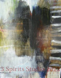 Original Abstract Painting  Surfacing by 3spiritsstudio on Etsy, $900.00