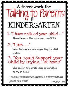 Talking to Parents in Kindergarten New Teacher Advice