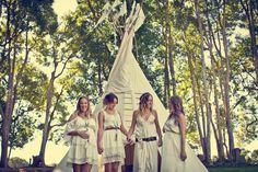 gorgeous bohemian beach gypsy wedding...great bridesmaids dresses