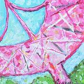 Art | Catalog Categories | Marquin Designs - Pink Liberty Bridge from Greenville SC